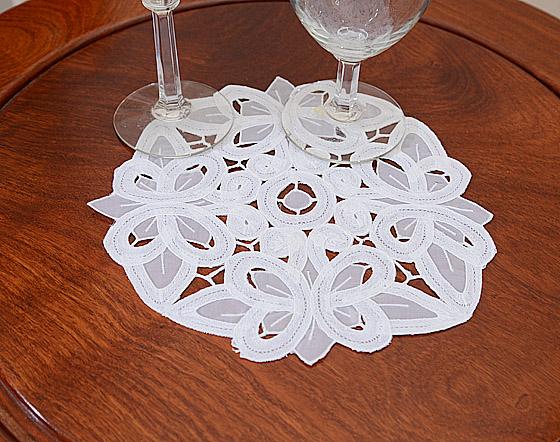 battenburg lace doilies