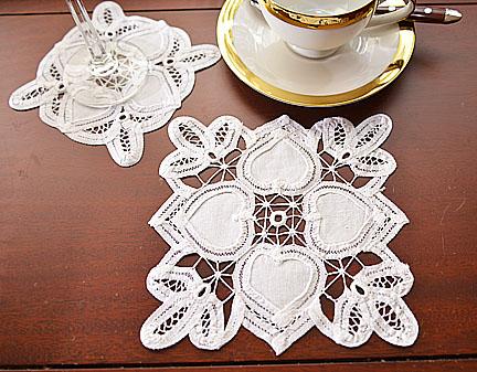 Happy Heart Battenburg lace
