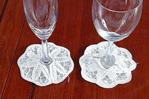 battenburg lace Glass Coasters