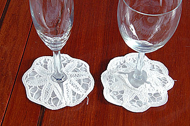 Battenburg Wine Glass Coasters