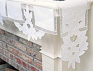 Fire place mantel scarf.