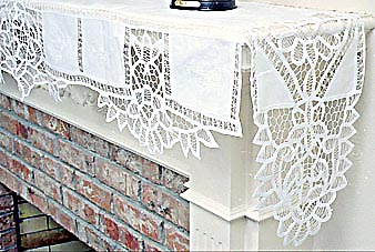fire place mantel scarfs