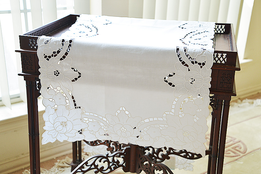Fancy Hand Embroidery Table Runner