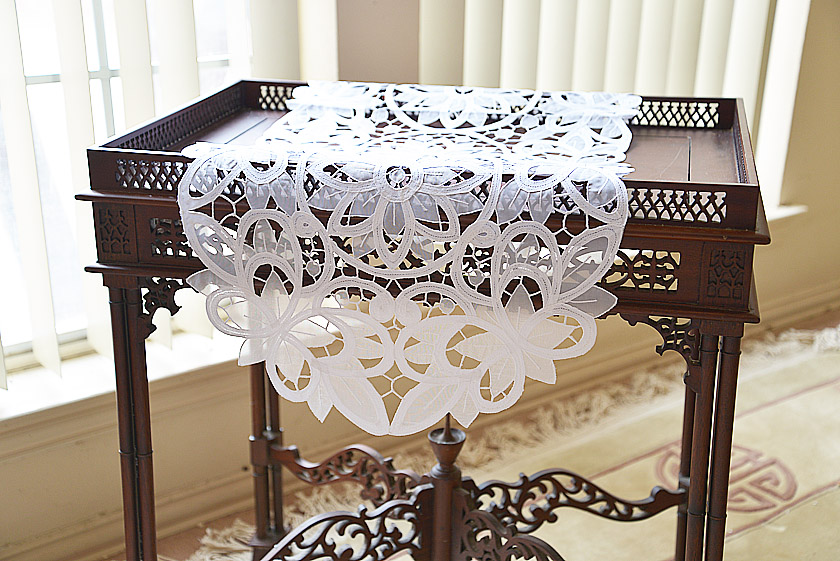 Oval Christina Butterflies Crystal Table Runner
