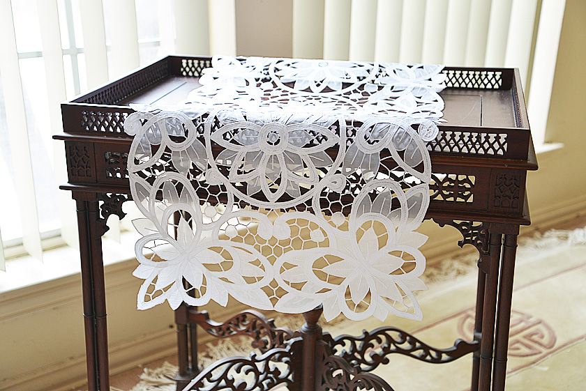 Christina Butterflies Crystal Lace Runner