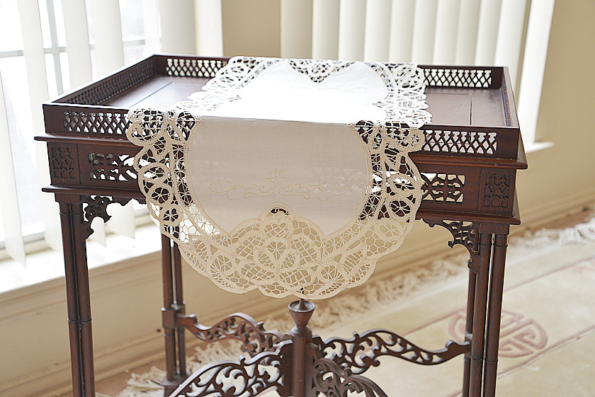 Oval Battenburg Lace Table Runner