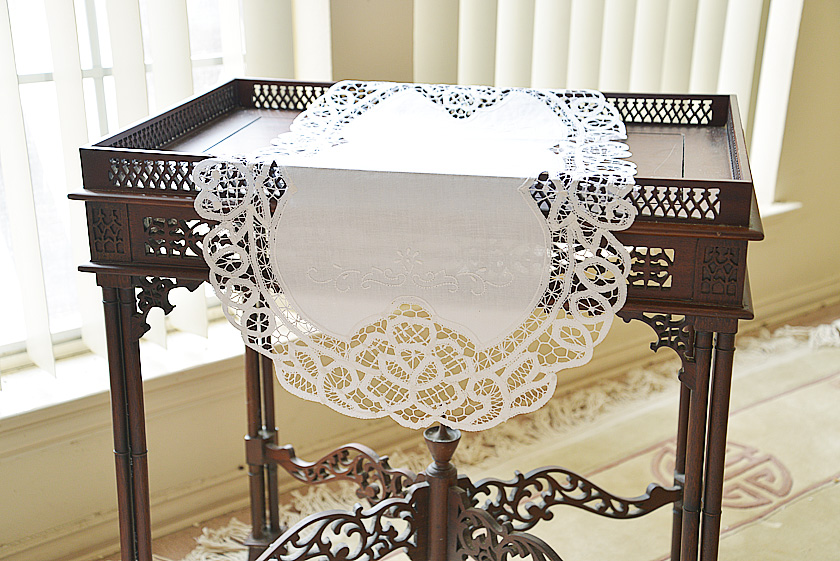 Oval Battenburg Lace Table Runner.