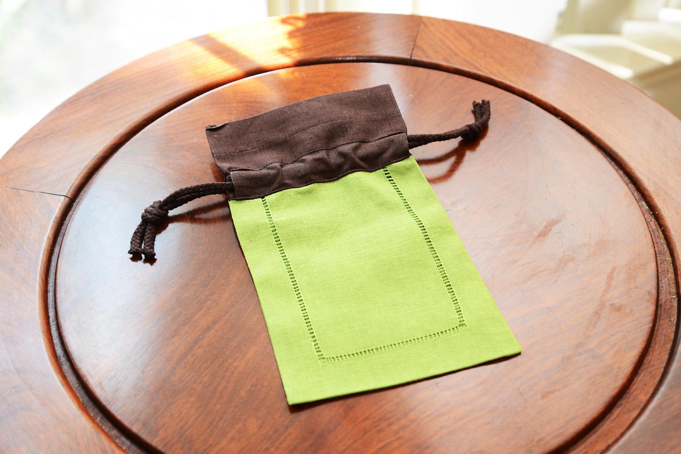 Multi Color Linen Hemstitch Sachet bags