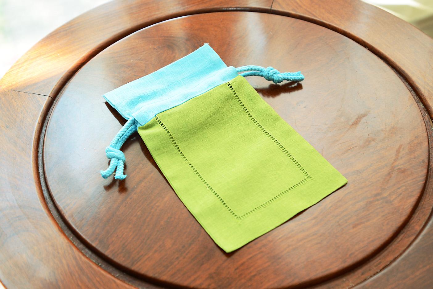 Linen Hemstitch Sachet Bags